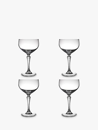 John Lewis & Partners Cocktail Glamour Coupe Glasses, Set of 4, 440ml