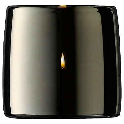 LSA International Metallic Tealight Holder, Platinum