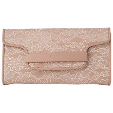 Buy L.K. Bennett Laura Leather Lace Clutch Bag, Marshmallow Online at johnlewis.com