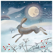 Buy Almanac Leaping Hare Charity Christmas Cards, Pack of 8 Online at johnlewis.com