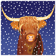 Buy Almanac Highland Snow Charity Christmas Cards, Pack of 6 Online at johnlewis.com