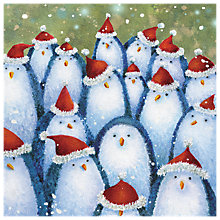 Buy The Almanac Gallery Penguin Hats Charity Christmas Cards, Pack of 8 Online at johnlewis.com