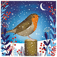 Buy Almanac Starlit Robin Charity Christmas Cards, Pack of 6 Online at johnlewis.com
