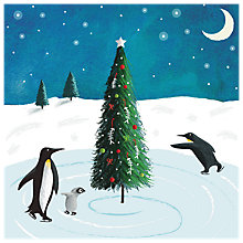 Buy Almanac Pirouetting Penguins Charity Christmas Cards, Pack of 6 Online at johnlewis.com
