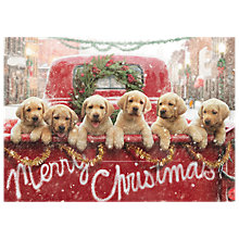 Buy Avanti Truck Full of Puppies Charity Christmas Cards, Pack of 6 Online at johnlewis.com