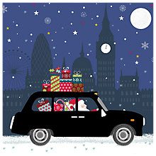 Buy Almanac Christmas Cab Charity Christmas Cards, Pack of 8 Online at johnlewis.com