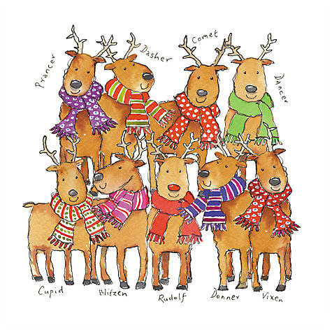 Buy Almanac Team Rudolph Charity Christmas Cards, Pack of 8 Online at johnlewis.com