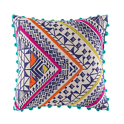 Kas Denka Woven Cotton Cushion, Rust