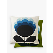 Buy Orla Kiely Blossom Flower Cushion, Olive / Duck Egg Online at johnlewis.com