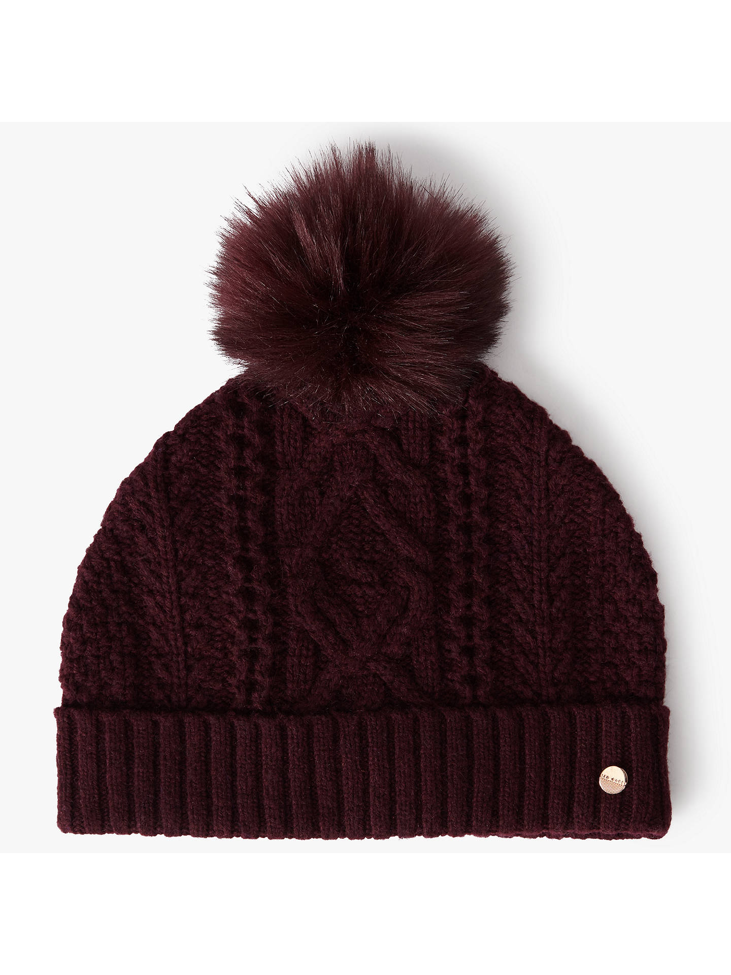 BuyTed Baker Kyliee Faux Fur Pom Hat f8f3a644c0e
