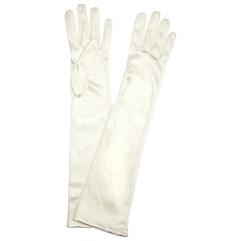 Buy John Lewis Long Satin Evening Gloves, One Size Online at johnlewis.com