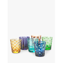 Buy Pols Potten Cuttings Glass Tumbler, Set of 6, 320ml, Assorted Online at johnlewis.com
