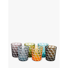 Buy Pols Potten Block Glass Tumbler, Set of 6, 320ml, Assorted Online at johnlewis.com