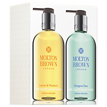 Buy Molton Brown Lemon & Mandarin And Pettigree Dew Hand Wash Set Online at johnlewis.com
