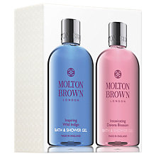 Buy Molton Brown Inspiring Wild Indigo and Intoxicating Davana Blossom Bath & Shower Gel Set Online at johnlewis.com