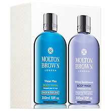 Buy Molton Brown Water Mint and White Sandalwood Body Wash Set Online at johnlewis.com