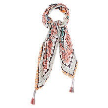Buy Gerard Darel Patterned Silk Tassel Scarf, Multi Online at johnlewis.com