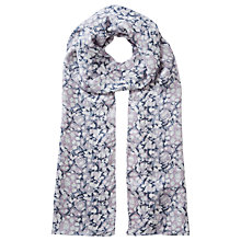 Buy Jigsaw Marble Shore Silk Scarf, Lilac Online at johnlewis.com