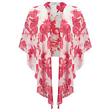 Buy Jacques Vert Sunset Floral Chiffon Wrap, Mid Pink Online at johnlewis.com