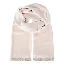 Buy Coast Blush Riana Lurex Scarf, Blush Online at johnlewis.com