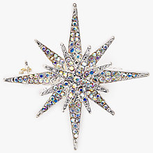 Buy John Lewis Triple Star Diamante Brooch, Silver Online at johnlewis.com