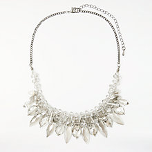 Buy John Lewis Glass Crystal Statement Necklace, Clear Online at johnlewis.com