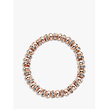 Buy John Lewis Glass Pave Bead Stretch Bracelet, Rose Gold Online at johnlewis.com