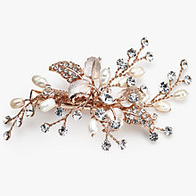 Buy Ivory & Co. Enchanted Rose Small Freshwater Pearl and Cubic Zirconia Hairslide, Rose Gold Online at johnlewis.com