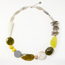 Buy John Lewis J206 Mixed Chunky Beads Necklace, Green/Multi Online at johnlewis.com