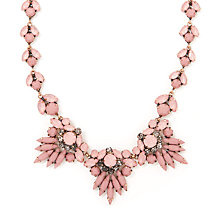 Buy John Lewis Diamante Statement Necklace, Gold/Dusty Pink Online at johnlewis.com