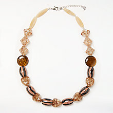 Buy John Lewis Crackle Bead Short Statement Necklace, Multi Online at johnlewis.com