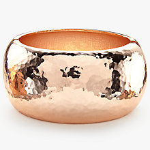 Buy John Lewis Hammered Chunky Bangle, Rose Gold Online at johnlewis.com