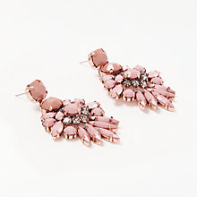 Buy John Lewis Statement Drop Earrings, Dusty Pink Online at johnlewis.com