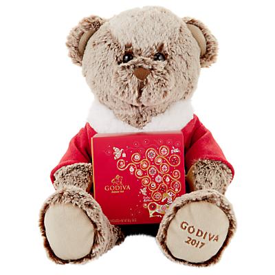 Image of 2017 Plush Teddy with Godiva Chocolates, 170g