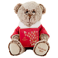 Buy Godiva Plush Christmas Teddy with Godiva Chocolates, 170g Online at johnlewis.com