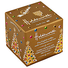 Buy Holdsworth Dark Chocolate Christmas Pudding Truffle Cube, 55g Online at johnlewis.com