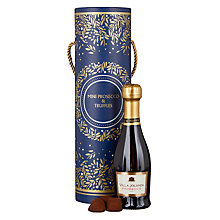 Buy Prosecco, 20cl with Cocoa Dusted Chocolate Truffles, 100g Online at johnlewis.com