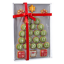 Buy Image on Food Hand Decorated Iced Gingerbread Advent Calendar, 300g Online at johnlewis.com