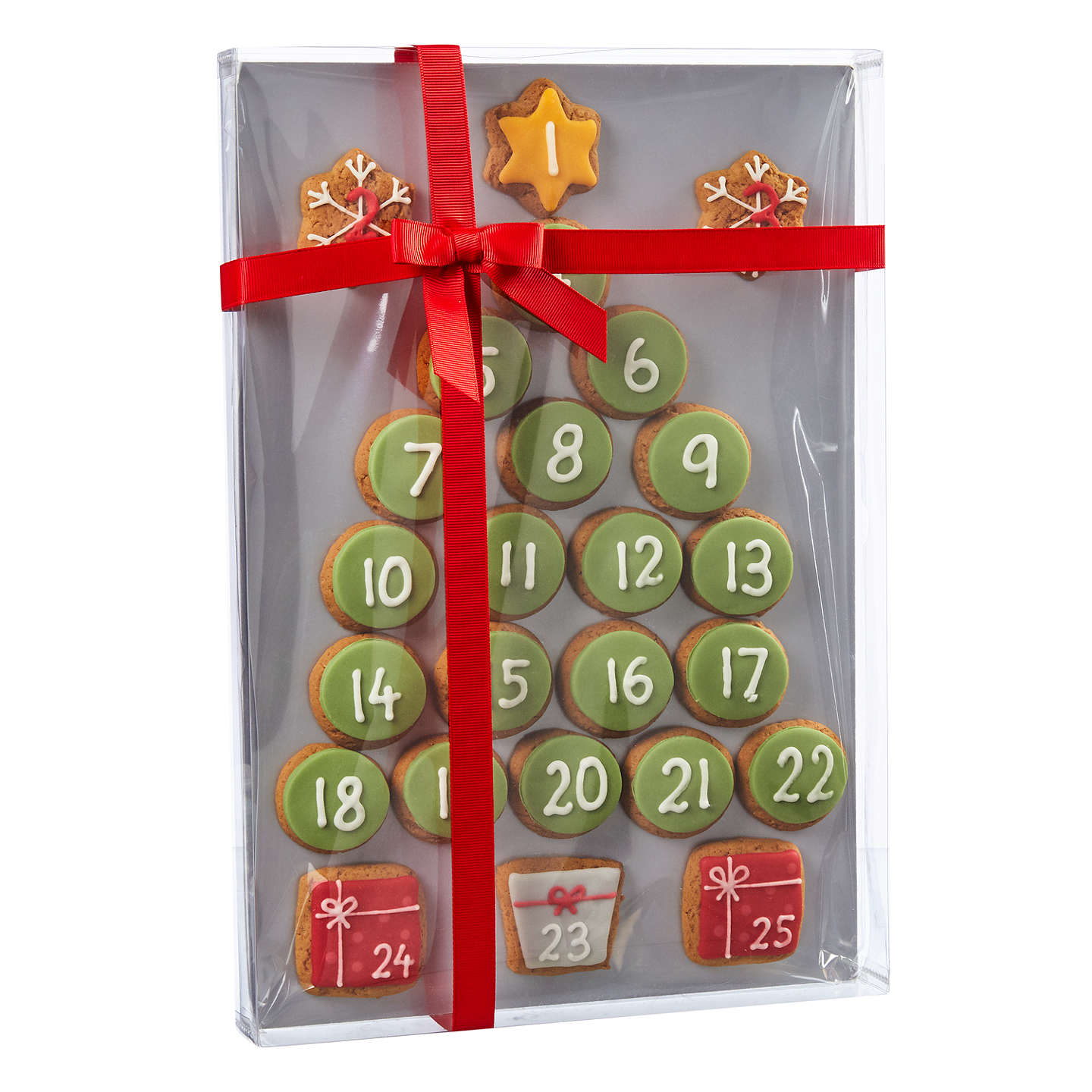 Buyimage On Food Hand Decorated Iced Gingerbread Advent Calendar, 300G