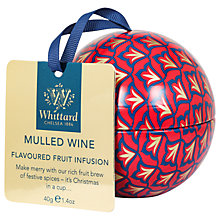 Buy Whittard Mulled Wine Tea Bauble, 47g Online at johnlewis.com