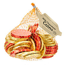 Buy Milk Chocolate Coins Giant Bag, 375g Online at johnlewis.com