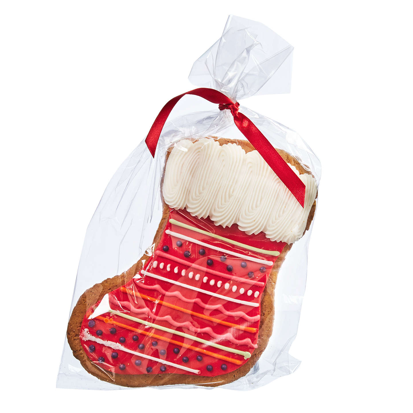Buyimage On Food Hand Decorated Iced Gingerbread Christmas Stocking, 180G