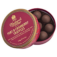 Buy Charbonnel et Walker Port & Cranberry Truffles, 120g Online at johnlewis.com