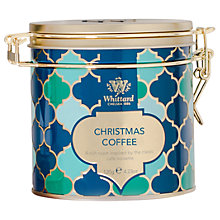 Buy Whittard Clip Top Christmas Coffee Tin, 120g Online at johnlewis.com