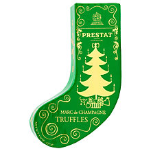 Buy Prestat Mini Green Stocking Marc de Champagne Milk Chocolate Truffles, 42g Online at johnlewis.com