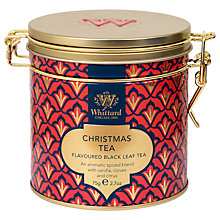 Buy Whittard Christmas Clip Top Tea Tin, 75g Online at johnlewis.com