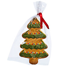 Buy Image on Food Hand Decorated Iced Gingerbread Christmas Tree, 65g Online at johnlewis.com
