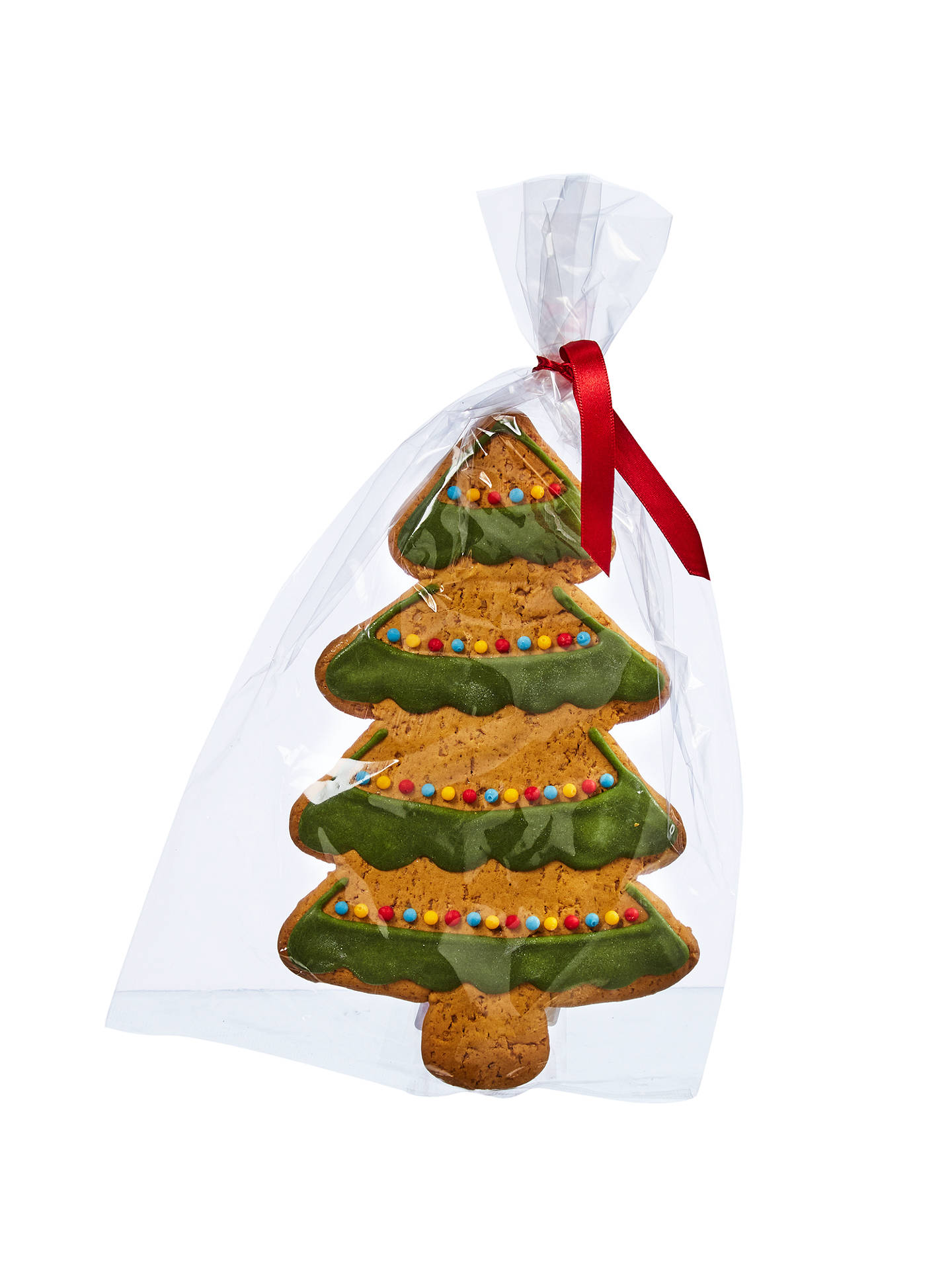 buyimage on food hand decorated iced gingerbread christmas tree 65g online at johnlewiscom - Gingerbread Christmas Tree