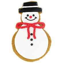 Buy Image on Food Hand Decorated Iced Gingerbread Snowman, 115g Online at johnlewis.com