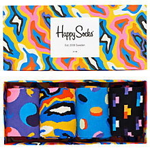 Buy Happy Socks Multicoloured Sock Gift Box, Pack of 4, Multi Online at johnlewis.com